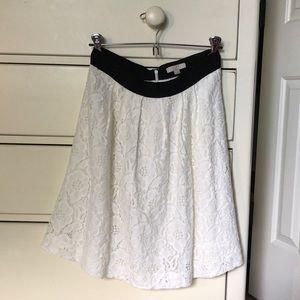 LOFT White Skirt